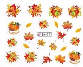 Слайдер-дизайн для ногтей BN-363