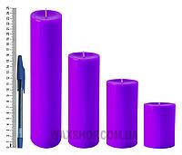 Свеча цилиндрическая, диаметр 6см, Фуксия