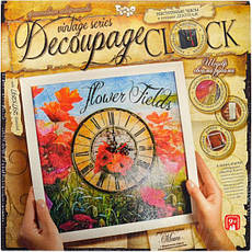 ДЕКУПАЖ «DECOUPAGE CLOCK» С РАМКОЙ DKC, фото 3