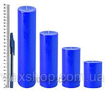 Свеча цилиндрическая, диаметр 6см, Синий