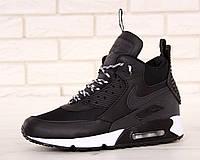 Мужские зимние кроссовки Nike Air Max 90 Sneakerboot Winter Black/White, фото 1
