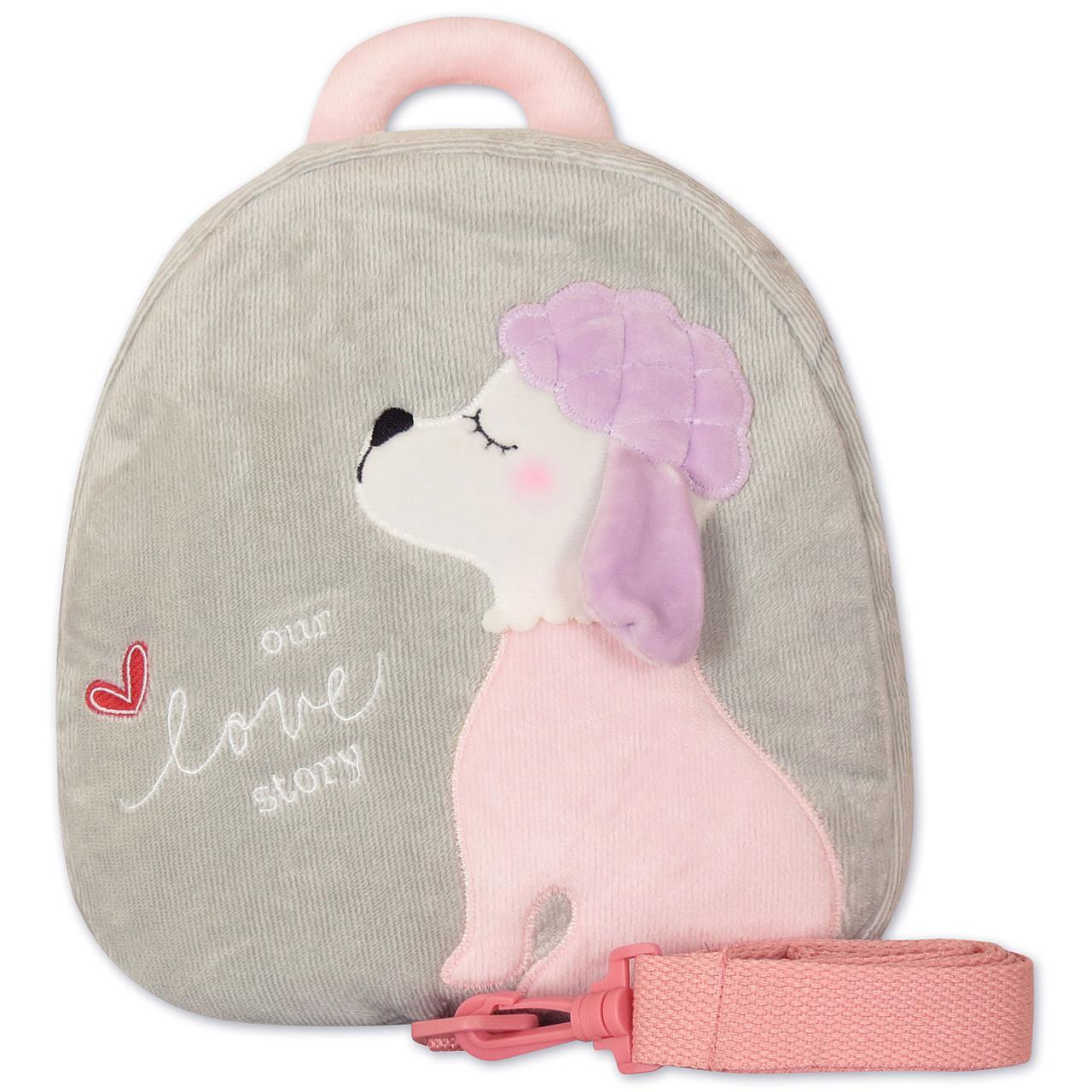 1765af783f5d Серый вельветовый рюкзак для девочки с собачкой: продажа, цена в ...