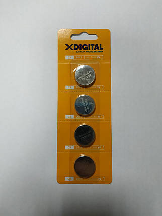 Батарейка X-Digital БИОС СR 2032С4 BL материнской платы , фото 2