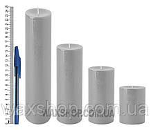 Свеча цилиндрическая, диаметр 6см, Серый