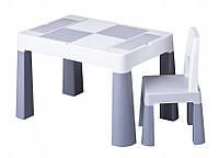 Дитячий столик і стільчик Tega Multifun Eco Grey