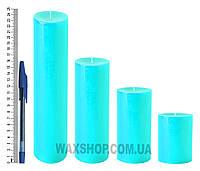 Свеча цилиндрическая, диаметр 6см, Бирюзовый
