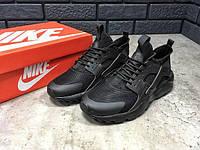 Мужские кроссовки Nike Air Huarache Ultra черные (ТОП реплика), фото 1