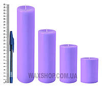 Свеча цилиндрическая, диаметр 6см, Сиреневый