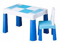 Дитячий столик і стільчик Tega Multifun Eco Blue