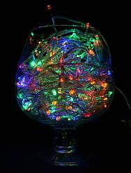 Гирлянда светодиодная на 100 Led мульти (прозрачный провод)