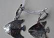 Серебряные серьги - подвески рыбки, фото 3