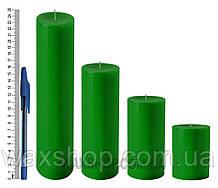 Свеча цилиндрическая, диаметр 6см, Зеленый