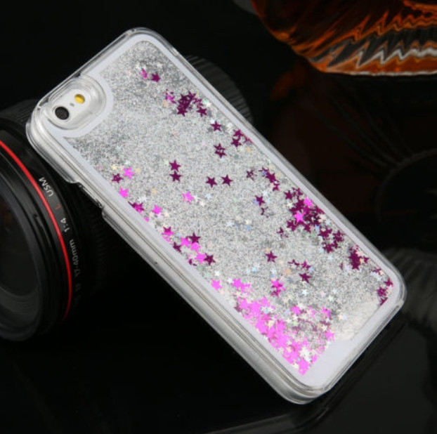 Чехол-накладка (Жидкий Блеск) с обводком для iPhone 6/6S
