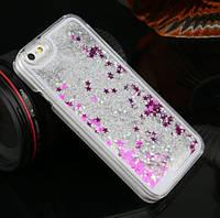 Чехол-накладка (Жидкий Блеск) с обводком для iPhone 6/6S, фото 1