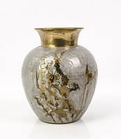 Коллекционная восточная ваза, латунь, эмаль, Индия, фото 1