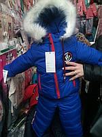 Зимний Теплый  комбинезон для мальчика  86-104