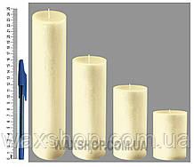 Свеча цилиндрическая, диаметр 6см, Бежевый