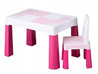 Дитячий столик і стільчик Tega Multifun Eco Pink