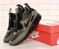 Мужские зимние кроссовки Nike Air Max 90 Mid Winter Green на термо подкладке, фото 1
