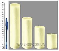 Свеча цилиндрическая, диаметр 6см, Пастельно-желтые