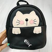 Рюкзак детский Котик (черный)
