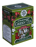 Зелений чай Полуниця, STRAWBERRY GREEN TEA, Млесна (Mlesna) 200г.
