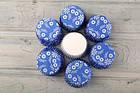 Бумажные формочки для капкейков, синие с узором 45х26, фото 2