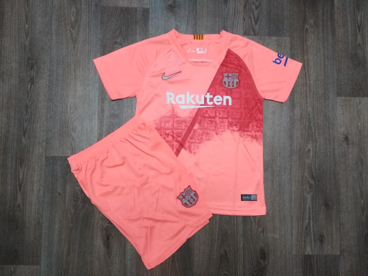 Футбольная форма Барселона резервная розовая (сезон 2018-2019)(размер XL)