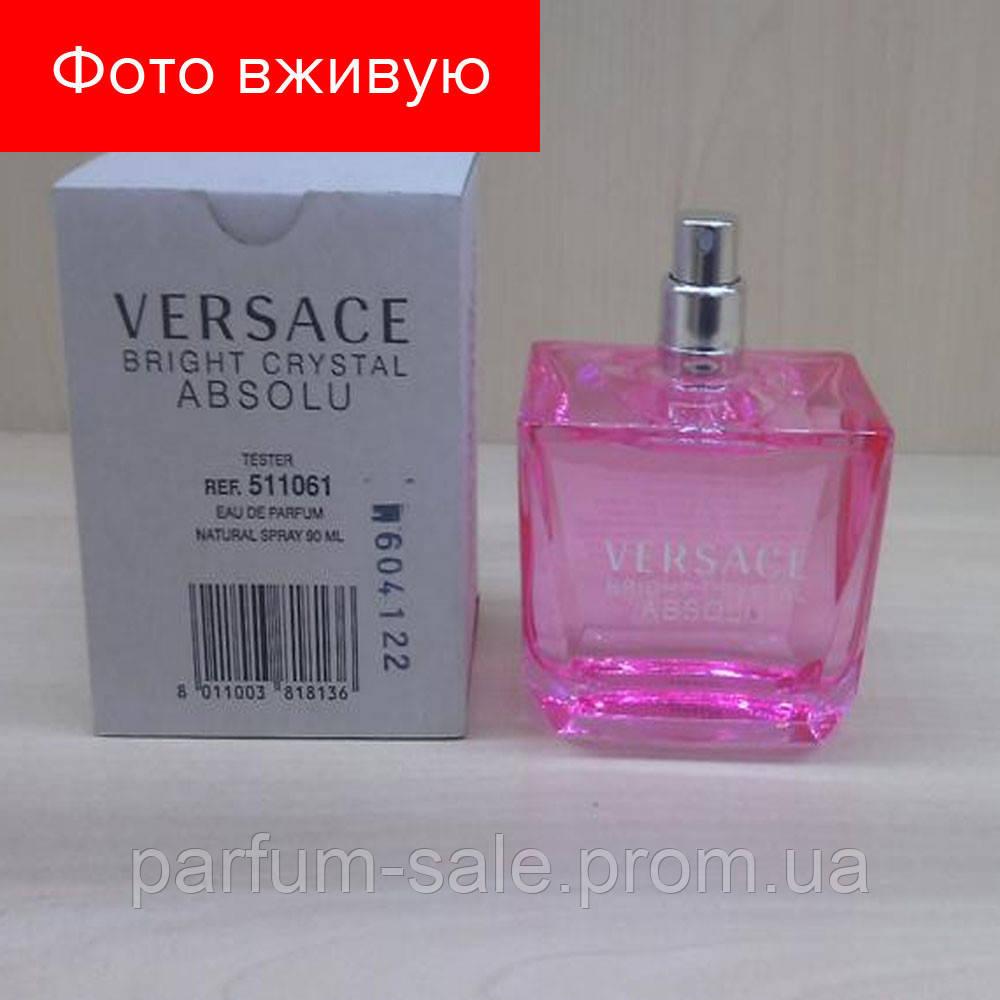 90ml Tester Versace Bright Crystal Absolu Wom Eau De Parfum