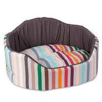 Лежак для собак и котов Коралл 1 (46*36*24) коричневый