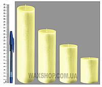 Свеча цилиндрическая, диаметр 6см, Нежно желтые
