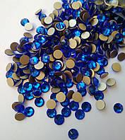 Стрази холодної фіксації копія Swarovski SS20 (5,0 мм) Sapphire, 16 граней. Ціна за 144 шт, фото 1