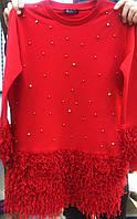 """Платье нарядное """"Красотка Мини"""", трикотаж, размер 6-10 лет, красный"""