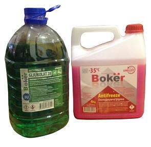 """4кг. Охлаждающая жидкость -28С """"Boker"""" зеленый"""