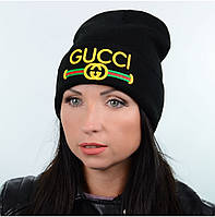 Шапка Gucci черная реплика