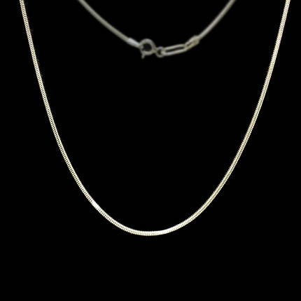 Срібна ланцюжок, 600мм, 5 грам, плетіння Снейк, фото 2