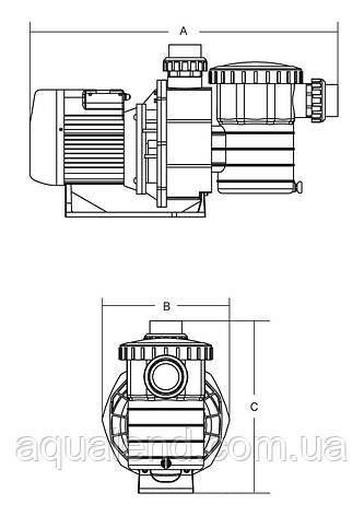 Насос ЅВ15 Emaux циркуляційний 1,3 кВт 20м3/год, фото 2