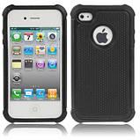 Чохол Silicon Splint для Apple iPhone 4 / iPhone 4s - Black, фото 2