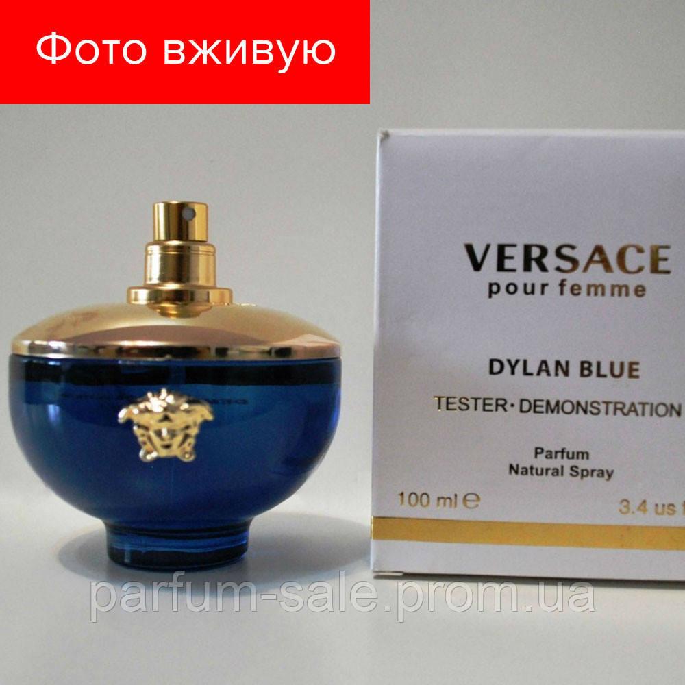 100 Ml Tester Versace Pour Femme Dylan Blue Eau De Parfume тестер