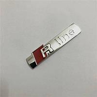 3D эмблема R-LINE - Цвет серебро глянец