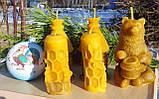 """Восковая свеча """"Пчелка на соте"""" из натурального пчелиного воска, фото 5"""