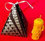 """Восковая свеча """"Пчелка на соте"""" из натурального пчелиного воска, фото 6"""