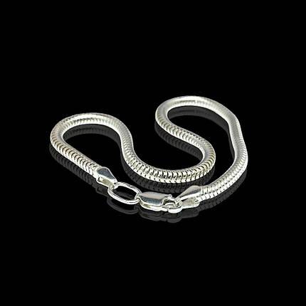 Серебряный браслет, 195мм, 6 грамм, плетение Снейк, фото 2