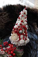Новогодняя Елочка белая с красным