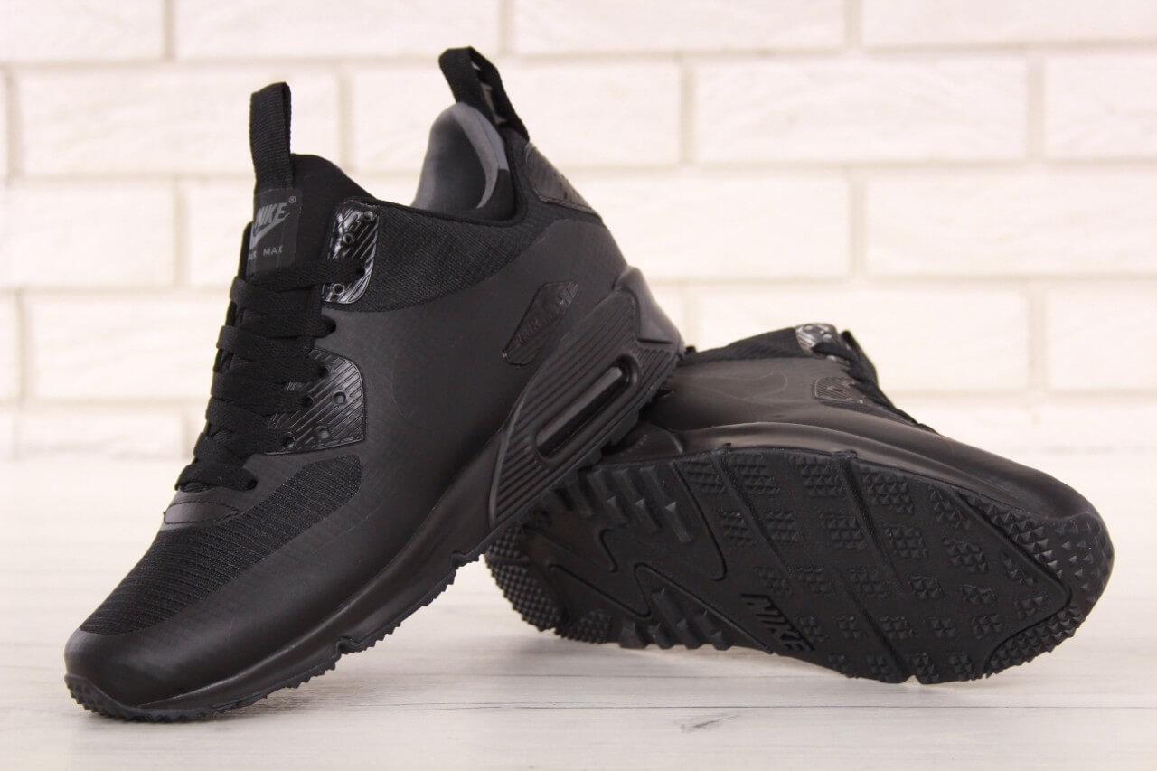 67a71103a5b292 Кроссовки на термо подкладке Nike Air Max 90 Mid Winter Black , фото 2 ...