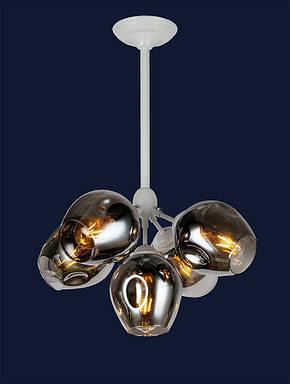 Люстра подвесная Bubble lolt LV  - очень модная белый корпус+янтарные/темные плафоны, фото 2