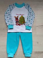 Пижама новогодняя детская Merry Cristmas,  р. 86, фото 1