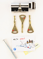 Abloy Protec2 82 мм 41x41 ключ/тумблер хром