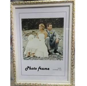 Рамка для фото пластиковая (210 * 297мм / цвет золото) НА СТЕНУ