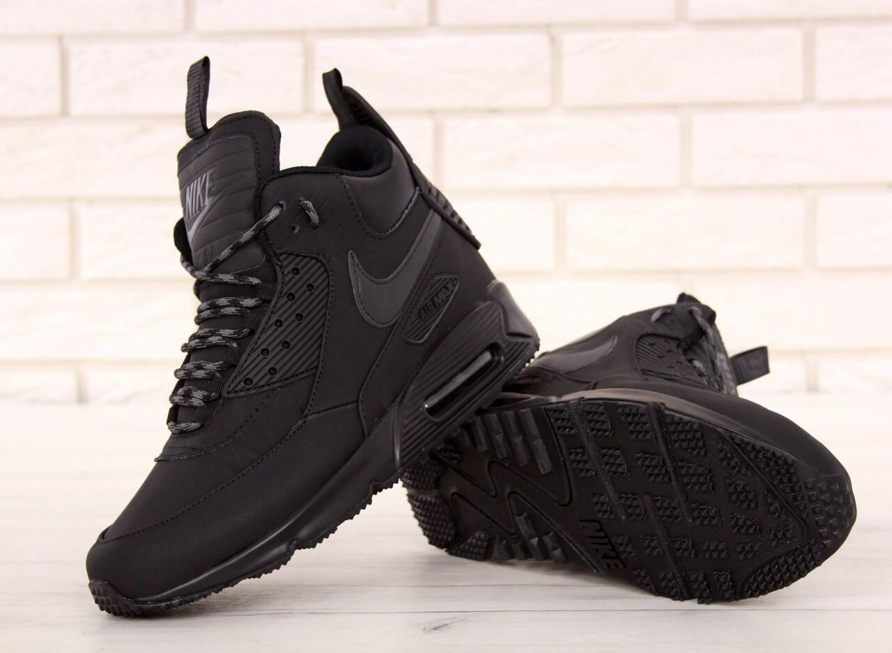 755ea4bc Зимние мужские кроссовки Nike Air Max 90 Sneakerboot Winter Black ...